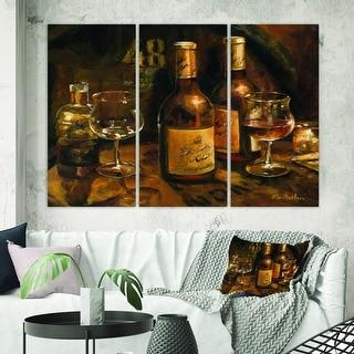 Designart 'Vintage Wine Cellar' Traditional Gallery-wrapped Canvas