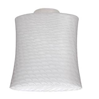 """Westinghouse 8141200 Lunar Weave Glass Shade, 2-1/4"""", White