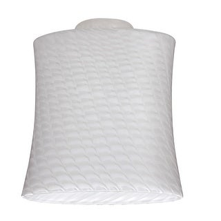 """Westinghouse 8141200 Lunar Weave Glass Shade, 2-1/4"""", White"""