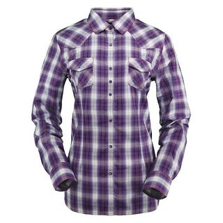 Outback Trading Shirt Womens L/S Penelope Performance Plum 42203