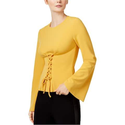 Bar Iii Womens Corset Knit Blouse