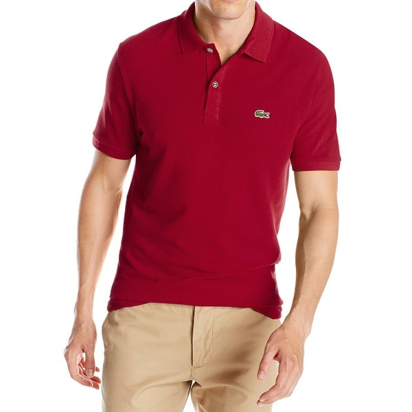 76832928bc Lacoste NEW Bordeaux Red Men Size FR 8 US 3XL Slim Fit Polo Rugby Shirt