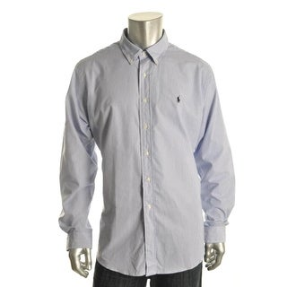 Polo Ralph Lauren Mens Striped Cotton Button-Down Shirt