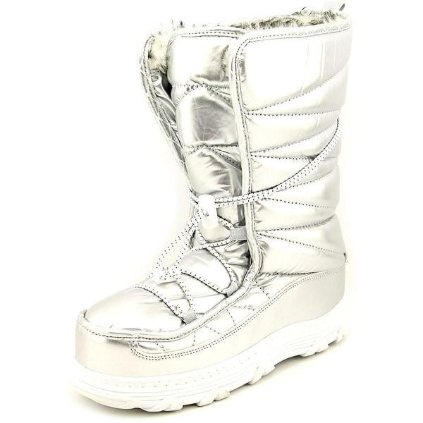 Khombu Sasha Women Round Toe Synthetic Silver Snow Boot