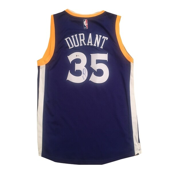 e2c1ff116aa Kevin Durant Autographed Golden State Warriors Adidas Swingman Signed  Basketball Jersey Becket COA