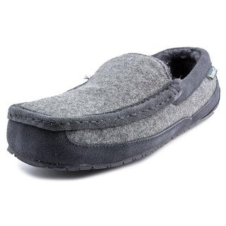 Bearpaw Peeta Men Moc Toe Canvas Gray Slipper