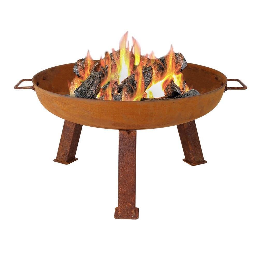 Sunnydaze Rustic Cast Iron Fire Pit Bowl - Orange - Thumbnail 7