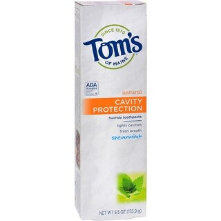 Tom's of Maine - Cavity Protection Toothpaste - Spearmint ( 6 - 5.5 OZ)