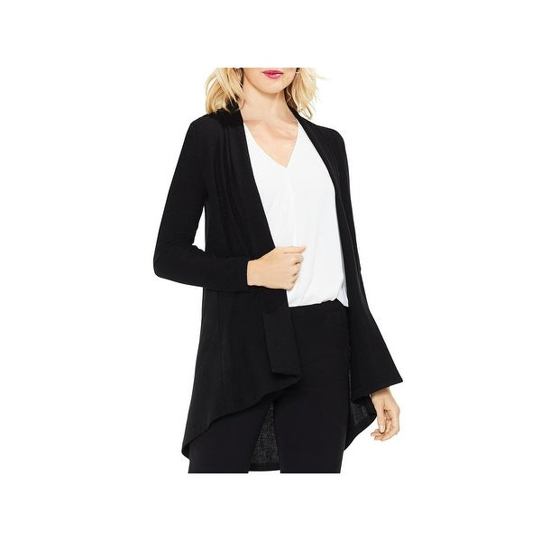 Vince Camuto Womens Cardigan Sweater Open Front Brushed Jersey
