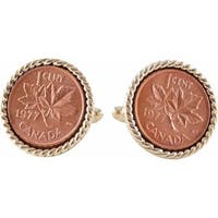 Canadian Maple Leaf Coin Cufflinks Coin Collector Memorbilla