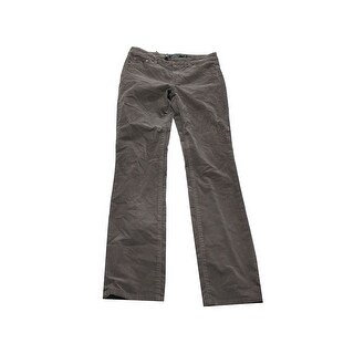 Lauren Ralph Lauren Taupe Premier Straight Corduroy Pants 2