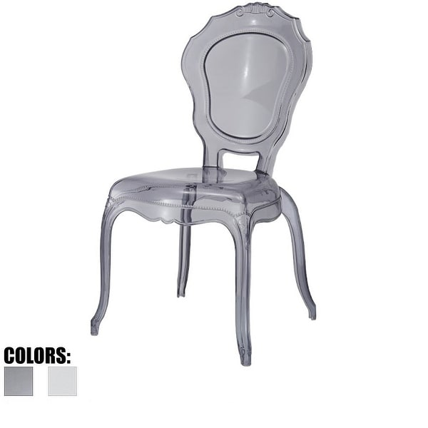 Shop 2xhome Smoke Plastic Chairs Side No Without Arms