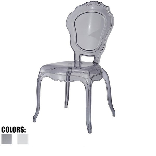 2xhome Smoke Plastic Chairs Side No Without Arms Dining Stackable Chair Modern Desk Kitchen Accent Living