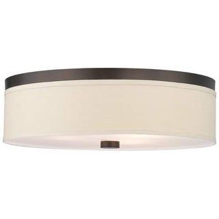 "Forecast Lighting F131920 3 Light 20.5"" Wide Flush Mount Ceiling Fixture from the Embarcadero Collection - sorrel bronze"