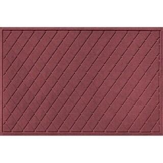 20377600035 Water Guard Argyle Mat in Bordeaux - 3 ft. x 5 ft.