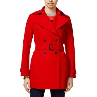Tommy Hilfiger Womens Trench Coat Double Breasted Belted - S