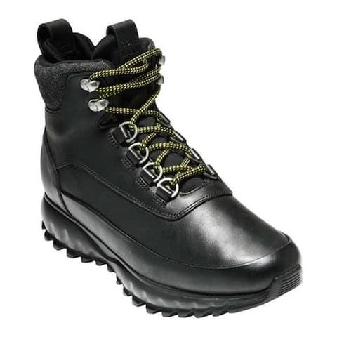 Cole Haan Women's ZeroGrand Explore All-Terrain Hiker Boot Black Leather/Dark Grey Wool/Black Neoprene/Black