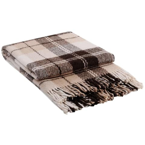 STP Goods - Elf Brown Tartan / Plaid New Zealand Lambswool Throw