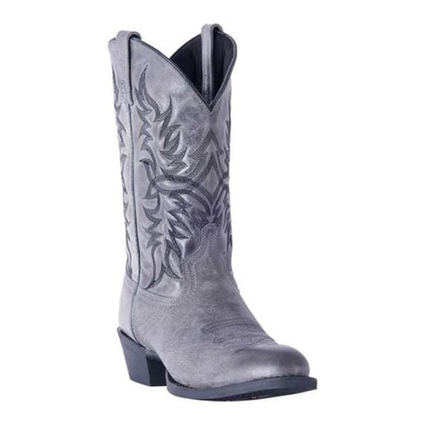 232187748cc Shop Laredo Men's Harding Cowboy Boot 68457 Grey Leather - Free ...