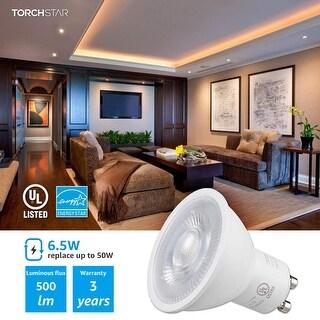 Link to 6.5W Dimmable LED MR16 GU10 Base Light Bulb, 3000K Warm White - 6 Pack  Similar Items in Light Bulbs
