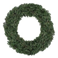 "60"" Commercial Size Canadian Pine Artificial Christmas Wreath - Unlit - green"