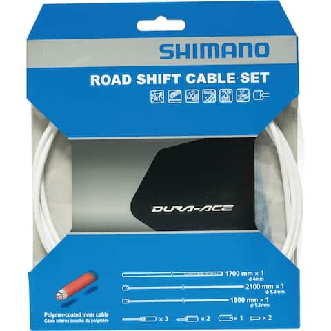 Shimano 9000 polymer white pair cable gear