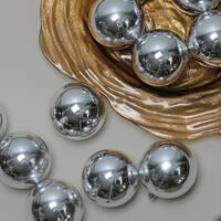 "12ct Silver Splendor Shatterproof Shiny Christmas Ball Ornaments 4"" (100mm)"