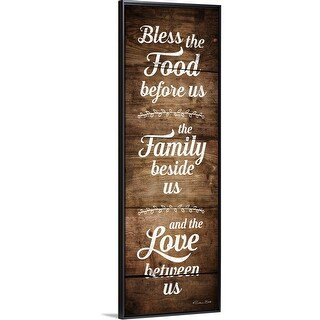 """""""Bless the Food Before Us"""" Black Float Frame Canvas Art"""