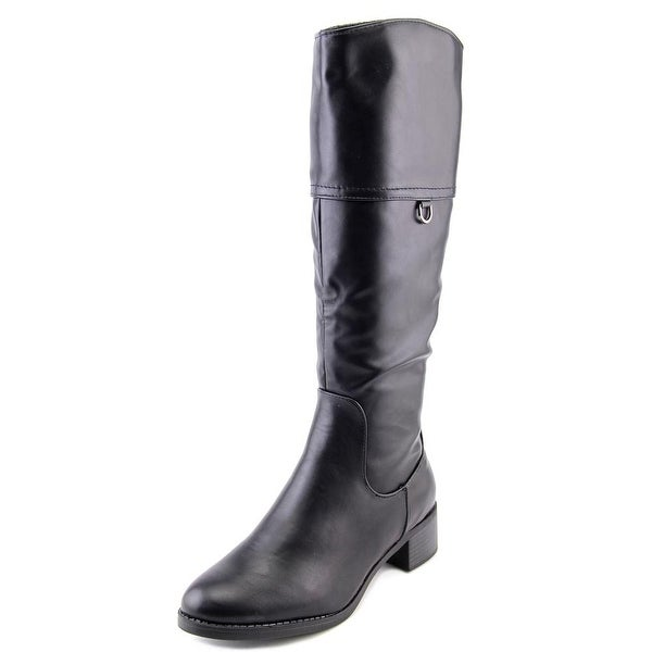 Easy Street Scotsdale Women W Round Toe Synthetic Black Knee High Boot