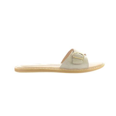 Born Womens Varick Ivory Slides Size 10
