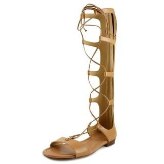 Michael Michael Kors Sofia Gladiator Women Open Toe Leather Tan Gladiator Sandal