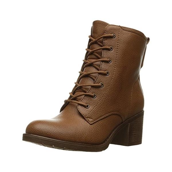 Baretraps Womens Deezie Ankle Boots Faux Leather Lace Up