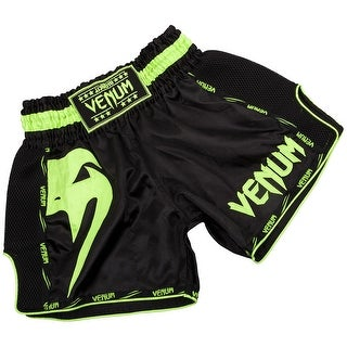 Venum Giant Lightweight Muay Thai Shorts - Black/Neo Yellow