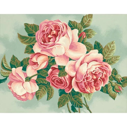 "Paint Works Paint By Number Kit 14""X11""-Heirloom Roses"