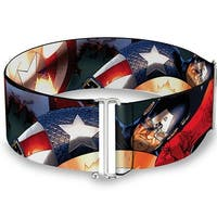 Marvel Universe Captain America Action2 Cinch Waist Belt   ONE SIZE