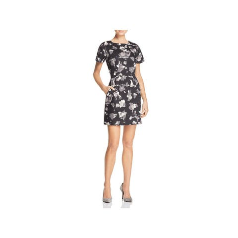 French Connection Womens Bella Scuba Dress Printed Above Knee