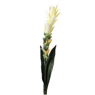 """Club Pack of 12 Decorative Artificial Yellow Hidden Lily Stem 34.5"""""""