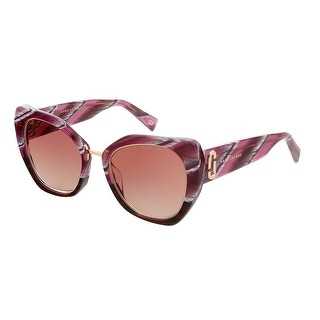 Link to Marc Jacobs MARC313GS 0KVN Stripe Burgundy Square Sunglasses - 53-21-145 Similar Items in Women's Sunglasses