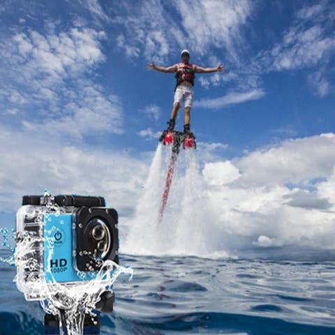 All Pro Action Sports Camera With Wifi And Hd 1080P Waterproof 18 Pcs Of Accessory Included.