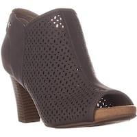 CC35 Angye Peep Toe Ankle Boots, Grey - 9 w us