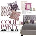 "G Home Collection Luxury Purple Nonobjective Embroidered Pillow 20""X20"" - Thumbnail 4"