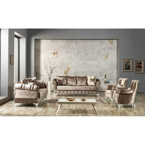 DiscountWorld Koseminilo Living Room Set (Two 3 Seat Sofas And Two Chairs) (3-3-1-1)