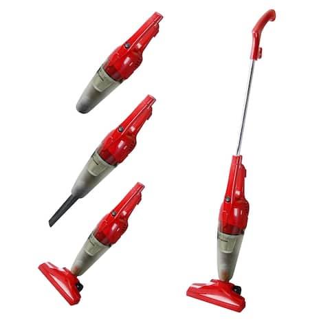 Impress GoVac 2-in-1 Upright-Handheld Vacuum Cleaner- Red