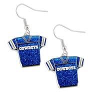 NFL Dallas Cowboys Glitter Jerseys Sparkle Dangle logo Earring Set Charm Gift