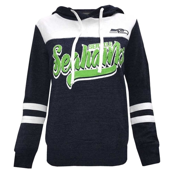 reputable site c4101 b55f9 New Era Women's NFL Seattle Seahawks Football Pullover Hoodie Hoody Soft  Striped