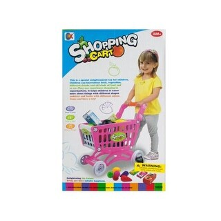 Kole Imports GH364-6 Toy Grocery Shopping Cart Set - Pack of 6