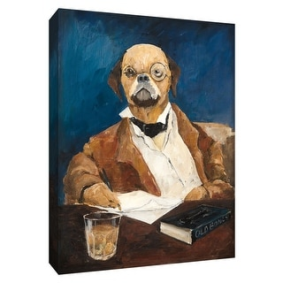 "PTM Images 9-154883  PTM Canvas Collection 10"" x 8"" - ""Nathaniel Howlthorn"" Giclee Dogs Art Print on Canvas"