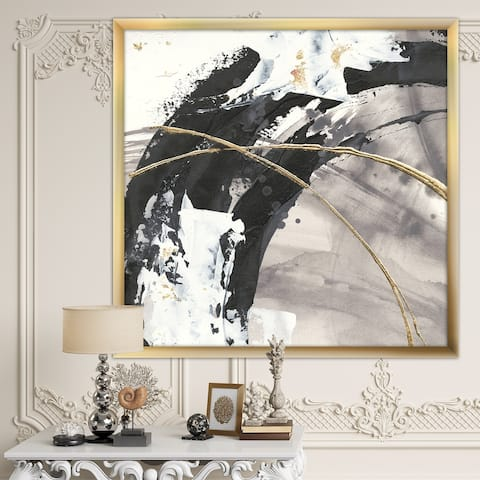 Designart 'Glam Painted Arcs I' Transitional Framed Art Print