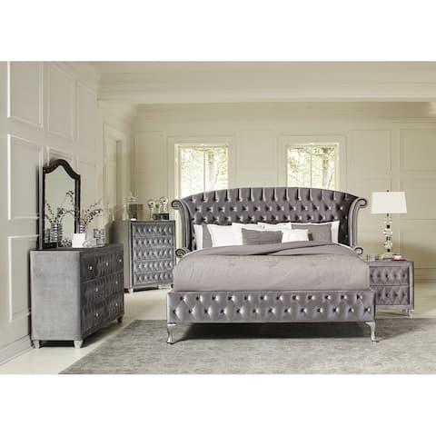 Rivers Traditional Metallic 4-piece Bedroom Set