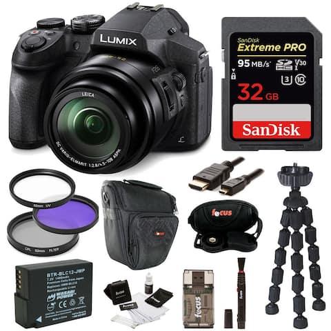 Panasonic DMC-FZ300K Digital Camera /w 32GB SD Card and Accessory Bundle